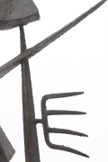 Michel Pinel's iron sculpture, detailed view of side
