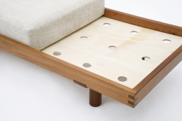 """Pierre Chapo's """"L09F"""" daybed detail view of base without cushion"""