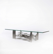 Gérard Mannoni's sculptural coffee table diagonal view from above