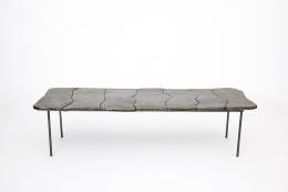 Annie Fourmanoir's ceramic coffee table, full straight view