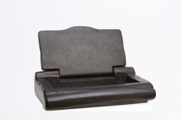 Alexandre Noll's black ebony box, lid open diagonal view