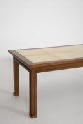 Jacques Adnet's coffee table, close up of side of table