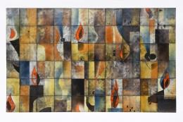Marcel Ducos ceramic panel straight full view
