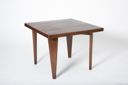 Pierre Jeanneret's square table, full diagonal view from above