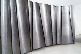Philolaos Tloupas' large steel screen, detailed view