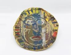 Roger Herman's ceramic plate full view