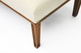 Jacques Adnet daybed leg detail