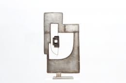 Alain Douillard's iron sculpture, front straight view