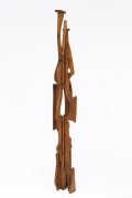 Ricardo Santamaria large wooden sculpture, full side view