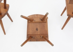 Marolles' set of 4 chairs view of stamp underneath chair