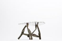 Albert Feraud's coffee table diagonal view from below