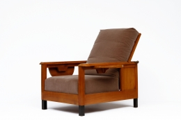 Jean Burkhalter's pair of armchairs diagonal view