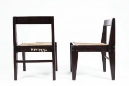 Pierre Jeanneret's pair of demountable chairs back and side view