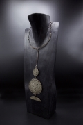 Philolaos Tloupas' sculptural necklace, full diagonal view
