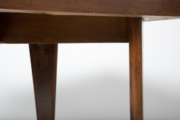 Pierre Jeanneret's square table, detailed view of sides