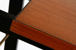Attributed to Andre Sornay's Console, detailed view of frame and wooden shelf