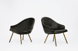 Jacques Adnet's pair of armchairs