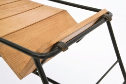 Jacques Adnet's side table detail