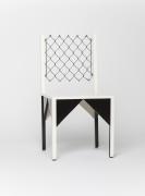 "Paul Ludick's ""Apartheid"" chair, diagonal view"