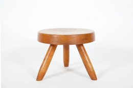 Charlotte Perriand's low stool, full back view closer
