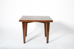 Pierre Jeanneret's square table, full straight view