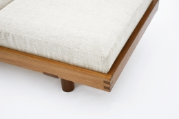 """Pierre Chapo's """"L09F"""" daybed detail view of cushion and base"""