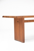 """Pierre Chapo """"T14C"""" dining table cropped view of left side"""