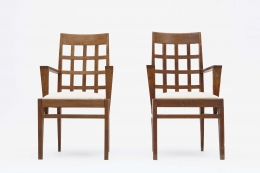 René Gabriel pair of armchairs front view