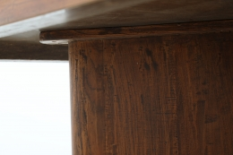 Pierre Jeanneret's Library table, detailed view of joinery with leg under the table