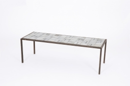 Mado Jolain's ceramic coffee table, diagonal full view from above