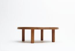 "Pierre Chapo ""T02M"" coffee table eye level view"