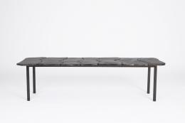 Annie Fourmanoir's ceramic coffee table straight full view