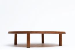"Pierre Chapo's ""T02P"" coffee table eye level view"