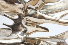 """Fred Brouard's """"Grande Ailée"""" dining table detail of bronze base"""