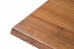 """Pierre Chapo """"T14C"""" dining table detailed view of corner of table"""