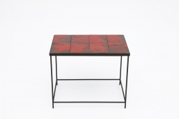 """Pierre Sabatier's """"Volvic Sang"""" table, full straight view from above"""