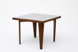 Pierre Jeanneret's square table diagonal view from above