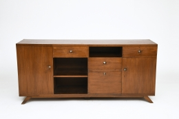 Pierre Jeanneret's sideboard, full straight view from above