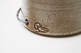 Jeanne & Norbert Pierlot's ceramic table lamp detailed view of signature