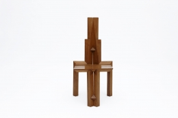 """Dominique Zimbacca's """"Sculpture"""" chair, full front view"""