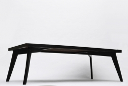 Pierre Jeanneret's dining table, full diagonal view from under