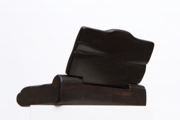 Alexandre Noll's black ebony box, lid open back view
