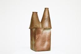 Yves Mohy's ceramic vase, full side view
