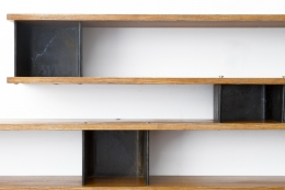 "Charlotte Perriand's ""Nuage"" wall shelving, detailed view"