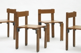 George Candilis' set of 6 chairs detail view