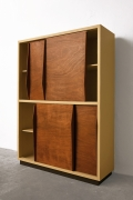 Le Corbusier's 4-door built-in closet, diagonal side view with doors slightly open