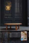 """Pierre Chapo's """"T02M"""" coffee table installation image outside"""