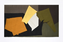 Claude Stahly's wool tapestry, full view