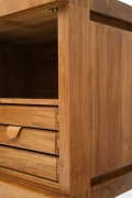 """Pierre Chapo's """"R16"""" sideboard detail of drawers and side"""