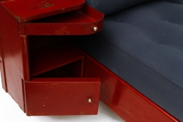 Jean Prouvé's daybed, detailed view of side storage